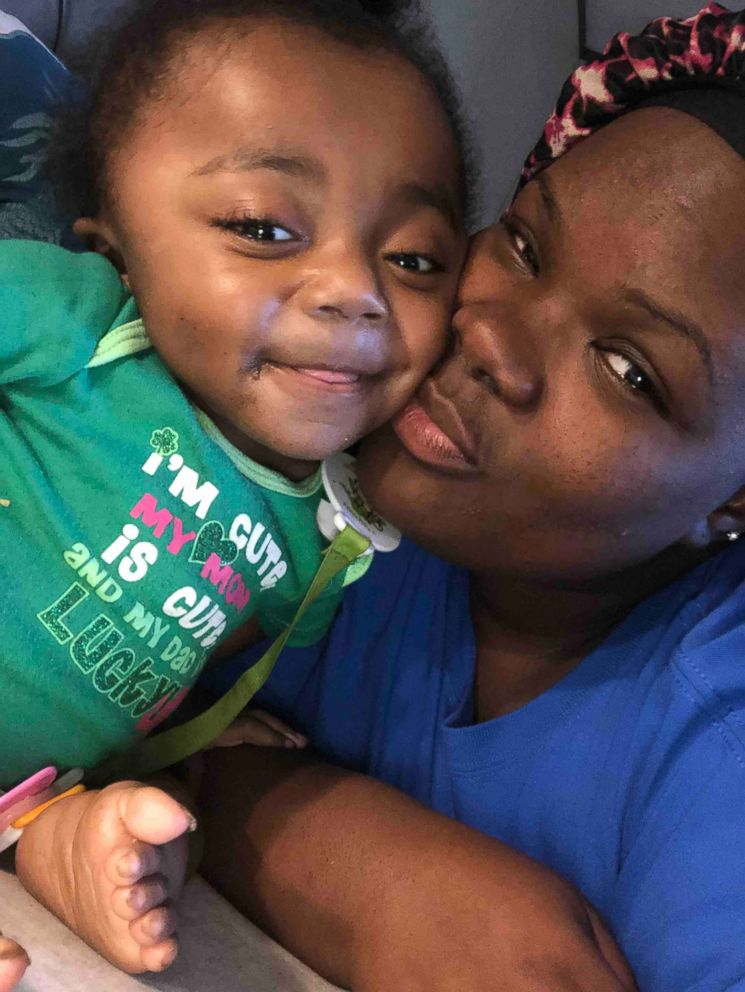 PHOTO: Cynniah Burton, 3, poses in a photo with her mom, Destini Jackson of Woodville, Mississippi.