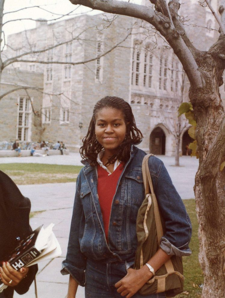 PHOTO: Michelle Robinson (Obama) at Princeton University where she studied sociology and African-American studies.