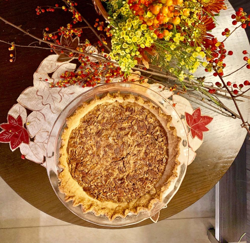 PHOTO: Fresh baked pecan pie made from the top Pinterest recipe.