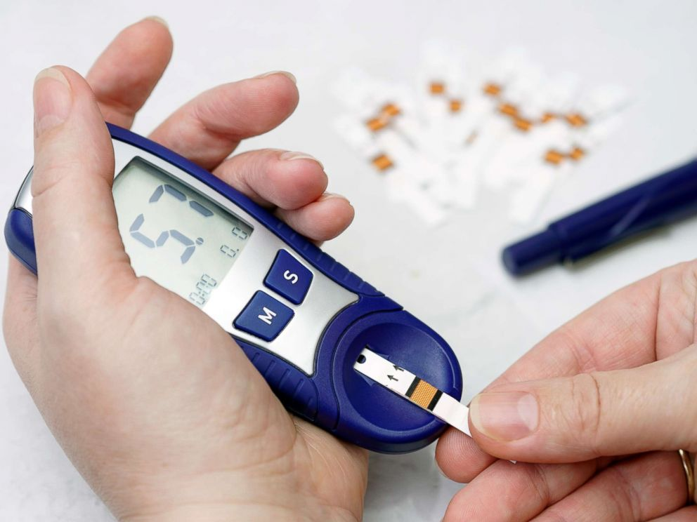 PHOTO: An undated stock image of a person checking their blood sugar level.
