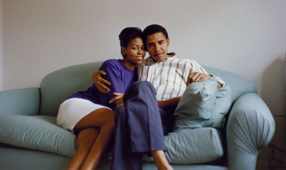 PHOTO: Michelle and Barack Obama as a young couple.